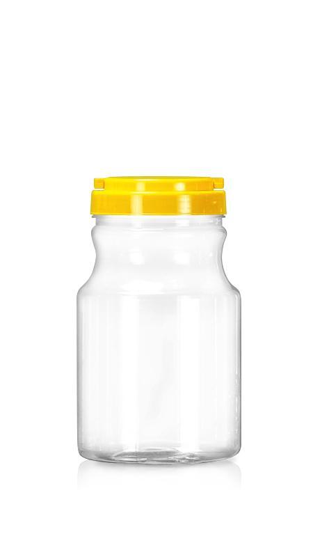 PET 89mm Series Wide Mouth Jar (D1300) - Pet-Plastic-Bottles-Round-Curve-D1300