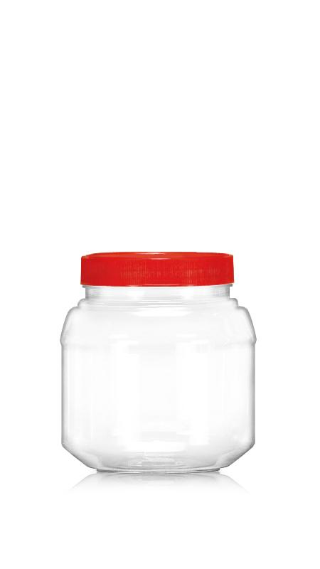 PET 89mm Series Wide Mouth Jar (D1000) - 1050 ml PET Round Jar with Certification FSSC, HACCP, ISO22000, IMS, BV