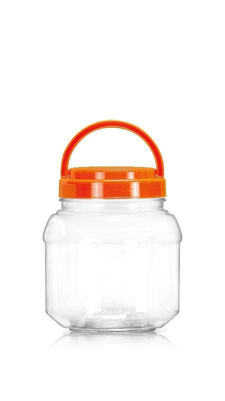 PET 89-mm-Serie Weithalsglas (D1000F) - 1000 ml PET Rundglas mit Zertifizierung FSSC, HACCP, ISO22000, IMS, BV