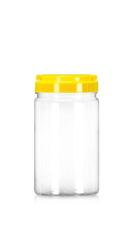 PET 89mm Series Wide Mouth Jar (D1009) - 1000 ml PET Round Jar with Certification FSSC, HACCP, ISO22000, IMS, BV