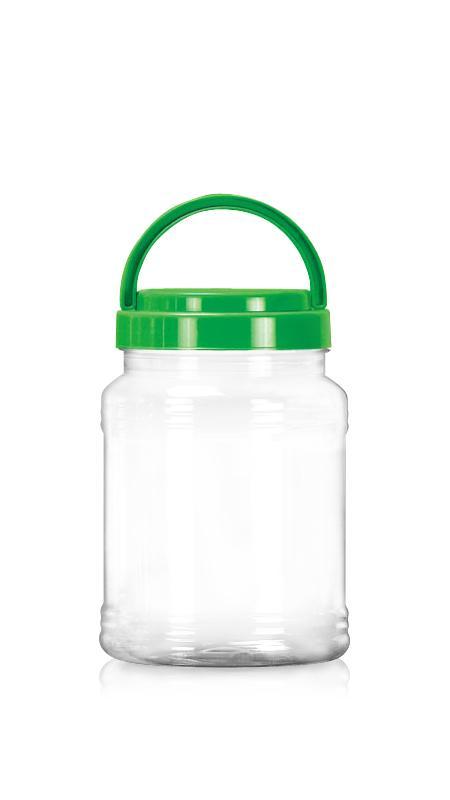 PET 89-mm-Serie Weithalsglas (D1038) - 1050 ml PET Rundglas mit Zertifizierung FSSC, HACCP, ISO22000, IMS, BV
