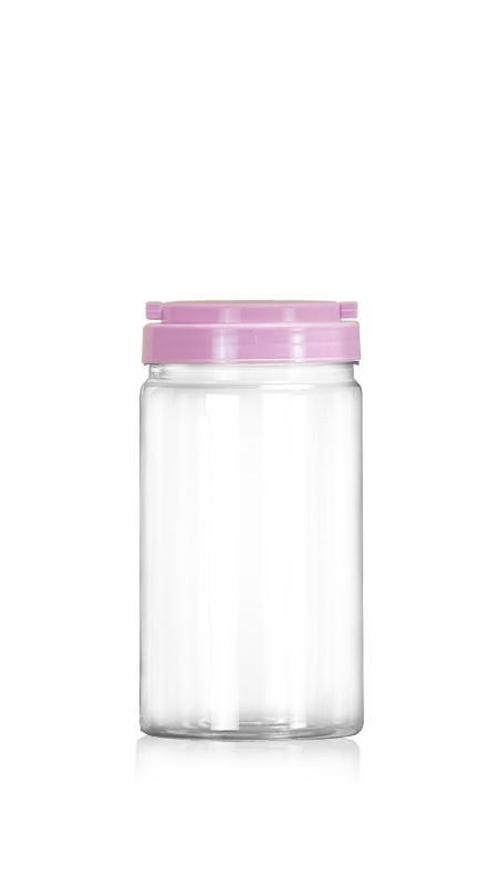 PET 89-mm-Serie Weithalsglas (D1059) - 1050 ml PET Rundglas mit Zertifizierung FSSC, HACCP, ISO22000, IMS, BV