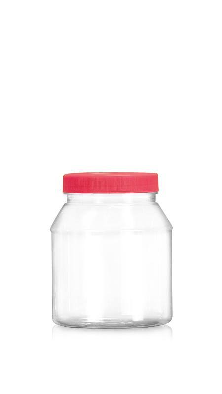 PET 89-mm-Serie Weithalsglas (D1200) - 1200 ml PET Rundglas mit Zertifizierung FSSC, HACCP, ISO22000, IMS, BV