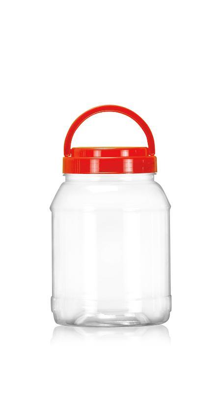PET 89mm Series Wide Mouth Jar (D1450) - Pet-Plastic-Bottles-Round-D1450