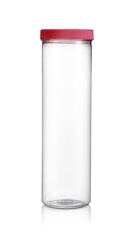 PET 89mm Series Wide Mouth Jar (D1757) - Pet-Plastic-Bottles-Round-D1757