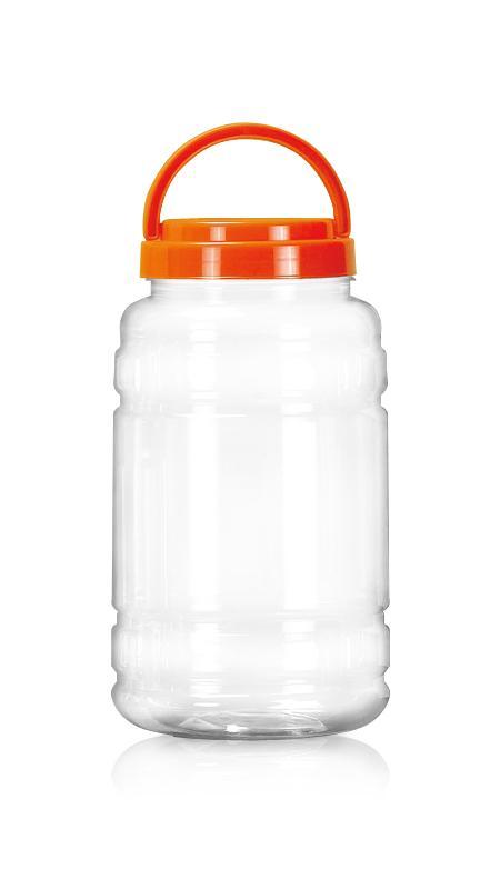 PET 89mm Series Wide Mouth Jar (D2000) - Pet-Plastic-Bottles-Round-D2000