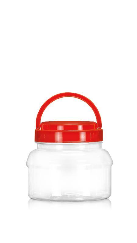 PET 89-mm-Serie Weithalsglas (D650) - 650 ml PET Rundglas mit Zertifizierung FSSC, HACCP, ISO22000, IMS, BV
