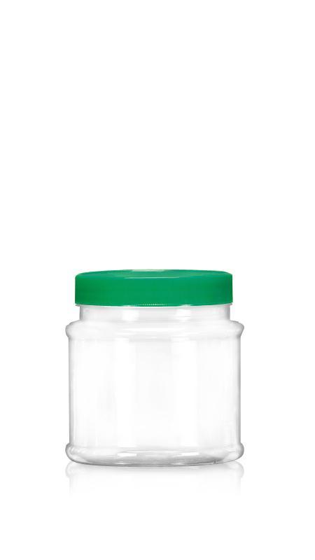PET Buză largă din seria 89mm (D652) - Borcan rotund PET de 650 ml cu certificare FSSC, HACCP, ISO22000, IMS, BV