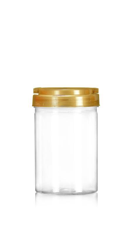 PET 89-mm-Serie Weithalsglas (D730) - 650 ml PET Rundglas mit Zertifizierung FSSC, HACCP, ISO22000, IMS, BV
