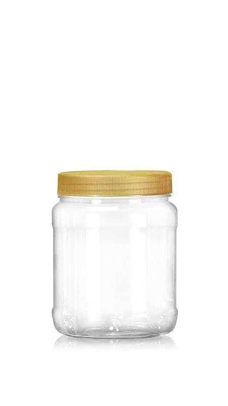 PET 89-mm-Serie Weithalsglas (D750) - 800 ml PET Rundglas mit Zertifizierung FSSC, HACCP, ISO22000, IMS, BV