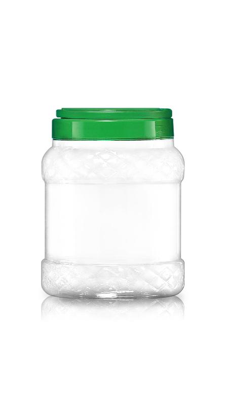 PET 120mm Series Wide Mouth Jar (J1000P) - 2200 ml PET Diamond Round Jar with Certification FSSC, HACCP, ISO22000, IMS, BV