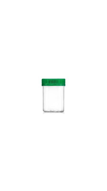 PET 53 mm Weithalsdose (F100) - 100 ml PET Mini Jar mit Zertifizierung FSSC, HACCP, ISO22000, IMS, BV