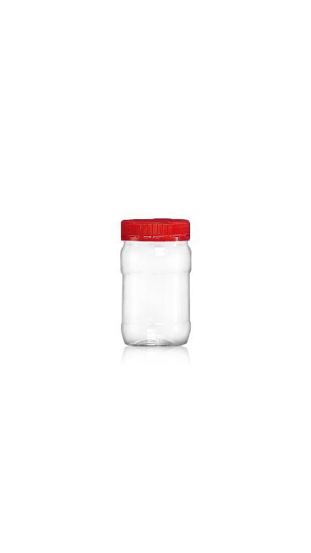 PET 53-mm-Serie Weithalsglas (F160) - 170 ml PET Mini Jar mit Zertifizierung FSSC, HACCP, ISO22000, IMS, BV