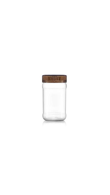 PET 53mm Series Wide Mouth Jar (F160N) - Pet-Plastic-Bottles-Round-F160N