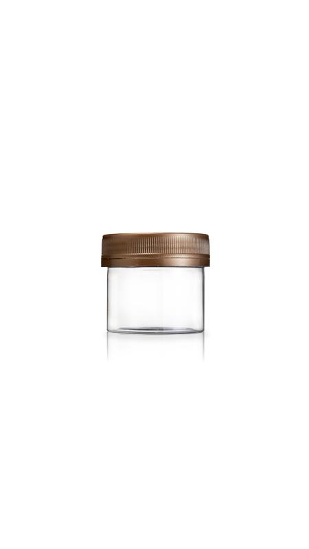 PET 53-mm-Serie Weithalsglas (F60) - 60 ml PET Mini Jar mit Zertifizierung FSSC, HACCP, ISO22000, IMS, BV
