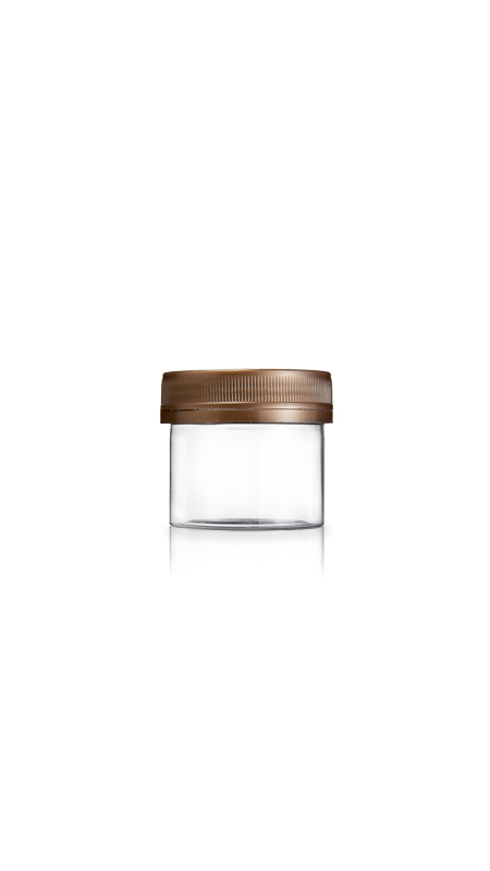 PET 53mm Series Wide Mouth Jar (F60) - 60 ml PET Mini Jar με πιστοποίηση FSSC, HACCP, ISO22000, IMS, BV