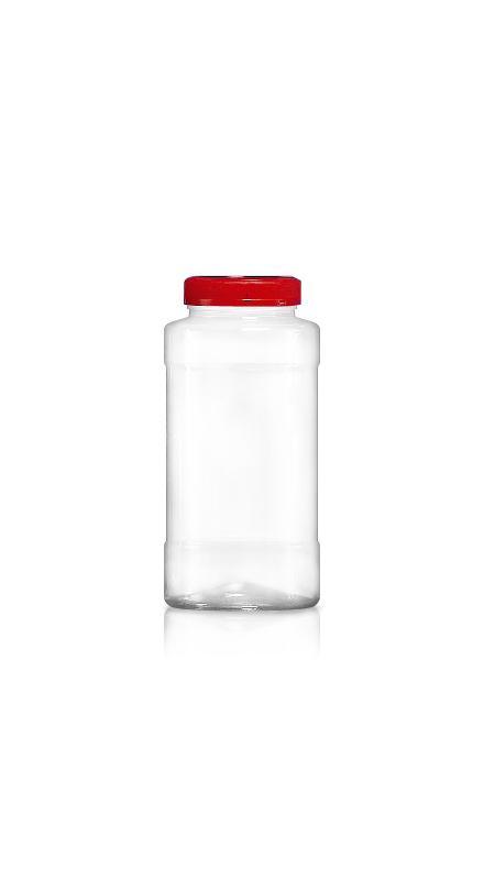 PET 53 mm Weithalsdose (F600) - 580 ml PET Rundglas mit Zertifizierung FSSC, HACCP, ISO22000, IMS, BV