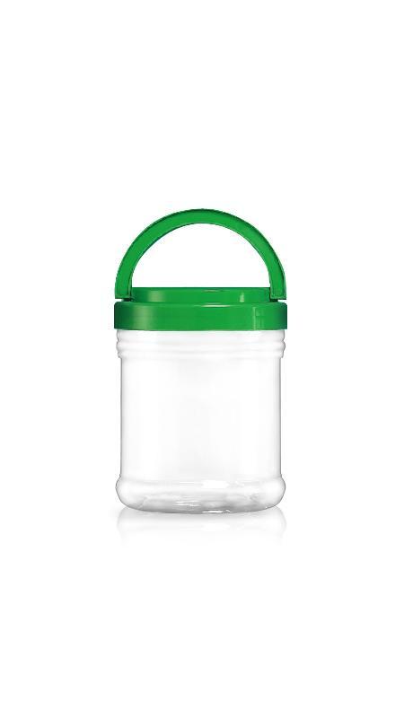 PET 120-mm-Serie Weithalsglas (J1200) - 1200 ml PET Rundglas mit Zertifizierung FSSC, HACCP, ISO22000, IMS, BV