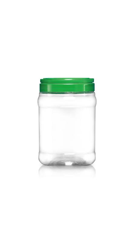 PET 120mm Series Wide Mouth Jar (J2000) - Pet-Plastic-Bottles-Round-J2000