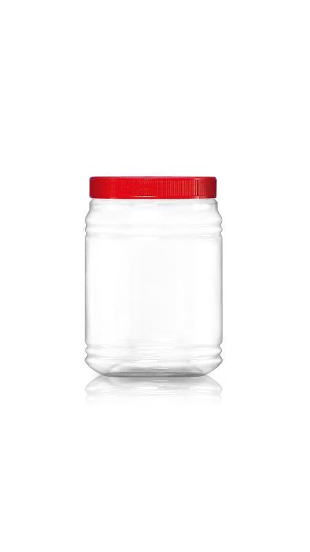 PET 120-mm-Serie Weithalsglas (J2036) - 2200 ml PET Rundglas mit Zertifizierung FSSC, HACCP, ISO22000, IMS, BV