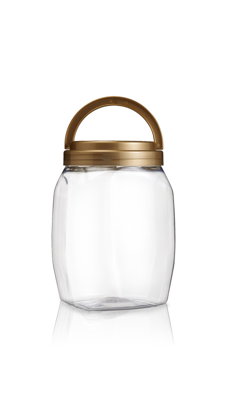 PET 120mm Series Wide Mouth Jar (J2301) - 2500 ml PET Round Jar with Certification FSSC, HACCP, ISO22000, IMS, BV