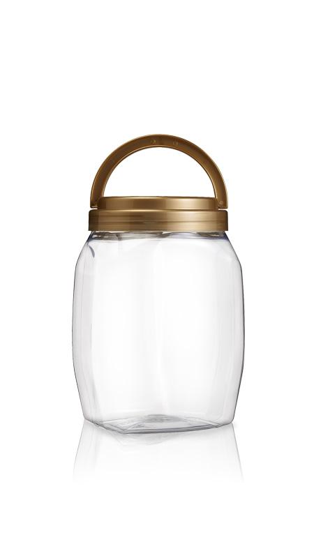 PET 120-mm-Serie Weithalsglas (J2301) - 2500 ml PET Rundglas mit Zertifizierung FSSC, HACCP, ISO22000, IMS, BV