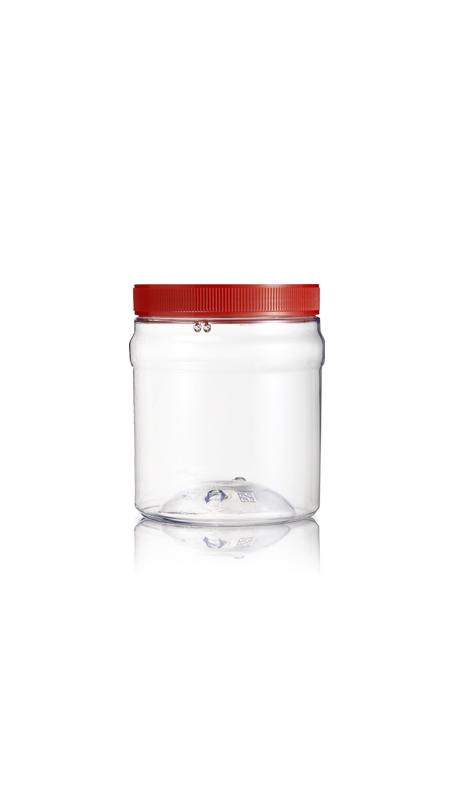 PET 120-mm-Serie Weithalsglas (J630) - 1400 ml PET Rundglas mit Zertifizierung FSSC, HACCP, ISO22000, IMS, BV