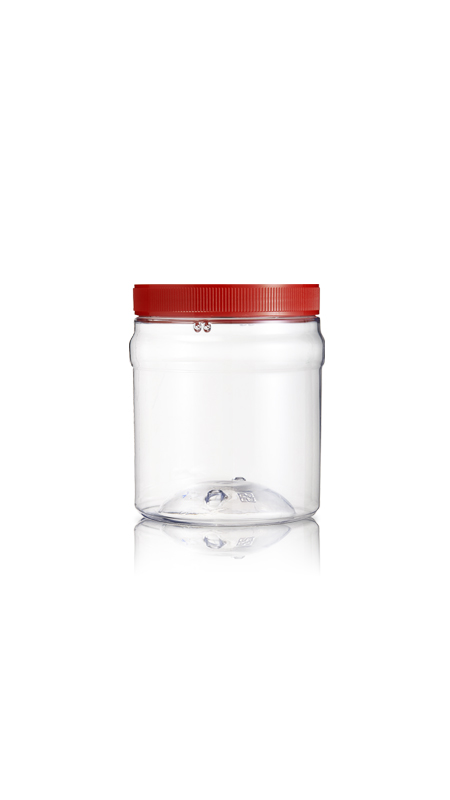 PET 120mm Series Wide Mouth Jar (J630) - Pet-Plastic-Bottles-Round-J630