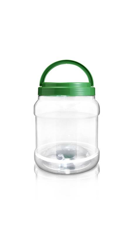 Bocal PET à bouche large, série 120 mm (J800) - Pet-Plastic-Bottles-Round-J800