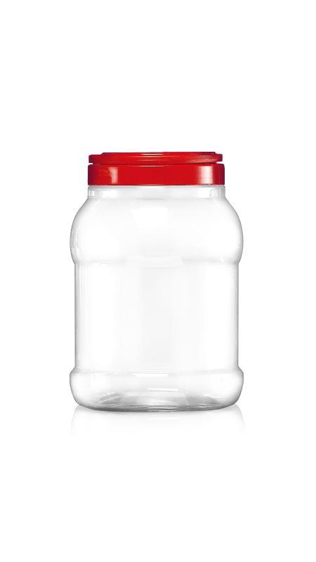 PET 120-mm-Serie Weithalsglas (J1501) - 3250 ml PET Rundglas mit Zertifizierung FSSC, HACCP, ISO22000, IMS, BV