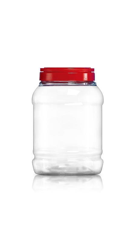 PET 120-mm-Serie Weithalsglas (J1800) - 3500 ml PET Rundglas mit Zertifizierung FSSC, HACCP, ISO22000, IMS, BV