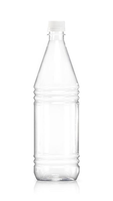 Sticle PET 28mm (W1000) - Sticlă de apă rotundă de 1000 ml PET cu certificare FSSC, HACCP, ISO22000, IMS, BV