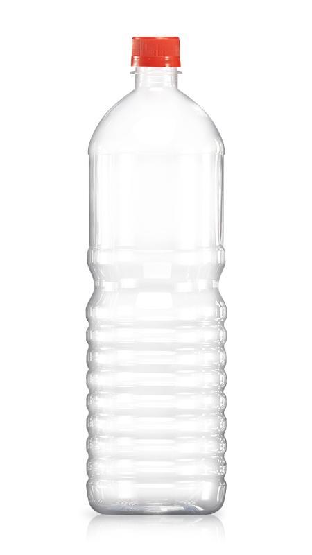PET 28mm Series Bottles (W1500) - 1500 ml PET Round Water Bottle with Certification FSSC, HACCP, ISO22000, IMS, BV