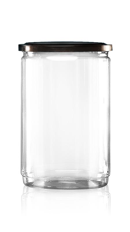PET aluminiu / plastic cutie ușoară deschisă (W401-1060) - Borcan EOE PET de 1060 ml cu capac din aluminiu și certificare FSSC, HACCP, ISO22000, IMS, BV