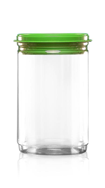 PET aluminiu / plastic cutie ușoară deschisă (W401-1060) - Borcan EOE PET de 1060 ml cu capac din plastic și certificare FSSC, HACCP, ISO22000, IMS, BV