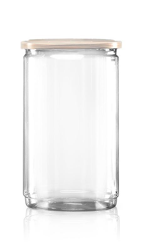 PET aluminiu / plastic cutie ușoară deschisă (W401-1060P) - Borcan EOE PET de 1180 ml cu capac din aluminiu și certificare FSSC, HACCP, ISO22000, IMS, BV