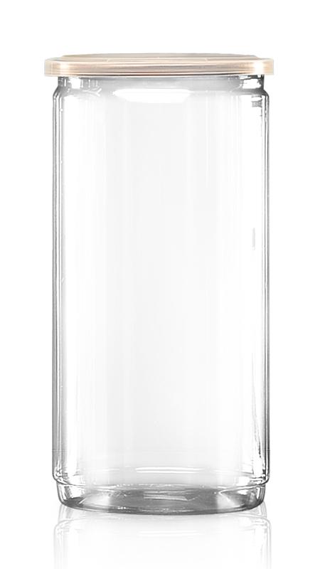 PET aluminiu / plastic cutie ușoară deschisă (W401-1520) - Borcan PET EOE de 1290 ml cu capac din aluminiu și certificare FSSC, HACCP, ISO22000, IMS, BV