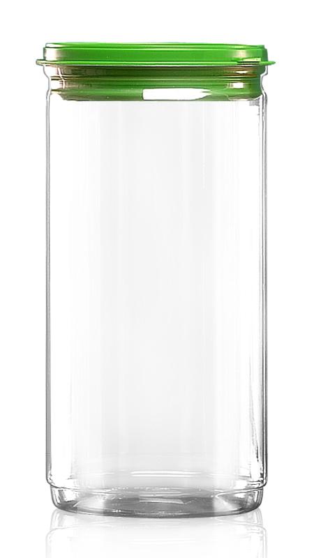 PET aluminiu / plastic cutie ușoară deschisă (W401-1520P) - Borcan EOE PET de 1290 ml cu capac din plastic și certificare FSSC, HACCP, ISO22000, IMS, BV