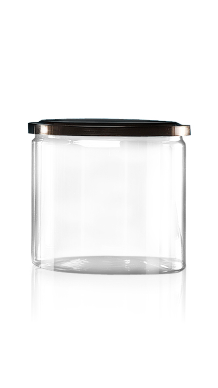 PET aluminiu / plastic cutie ușoară deschisă (W401-650) - Borcan EOE PET de 650 ml cu capac din aluminiu și certificare FSSC, HACCP, ISO22000, IMS, BV