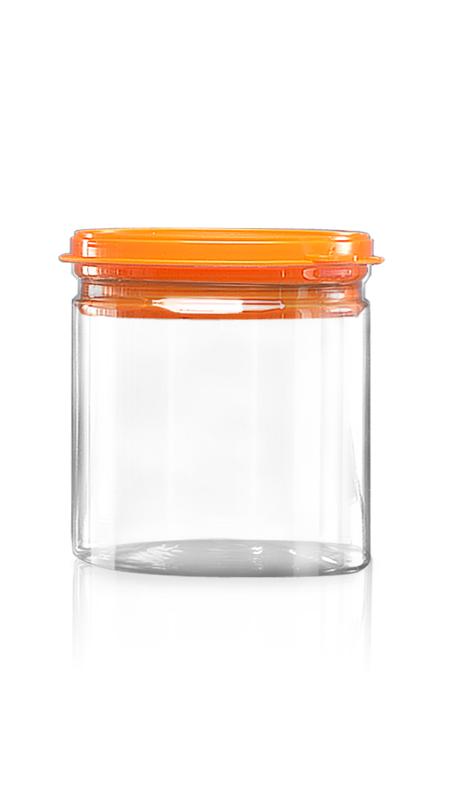 PET aluminiu / plastic cutie ușoară deschisă (W401-650P) - Borcan PET 650 ml EOE cu capac din plastic și certificare FSSC, HACCP, ISO22000, IMS, BV