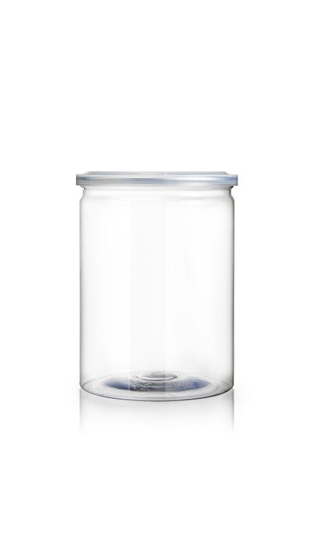 PET aluminiu / plastic cutie ușoară deschisă (W401-880) - Borcan EOE PET de 870 ml cu capac din aluminiu și certificare FSSC, HACCP, ISO22000, IMS, BV