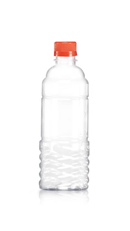 PET-Flaschen der 28-mm-Serie (W500) - 500 ml runde PET-Wasserflasche mit Zertifizierung FSSC, HACCP, ISO22000, IMS, BV