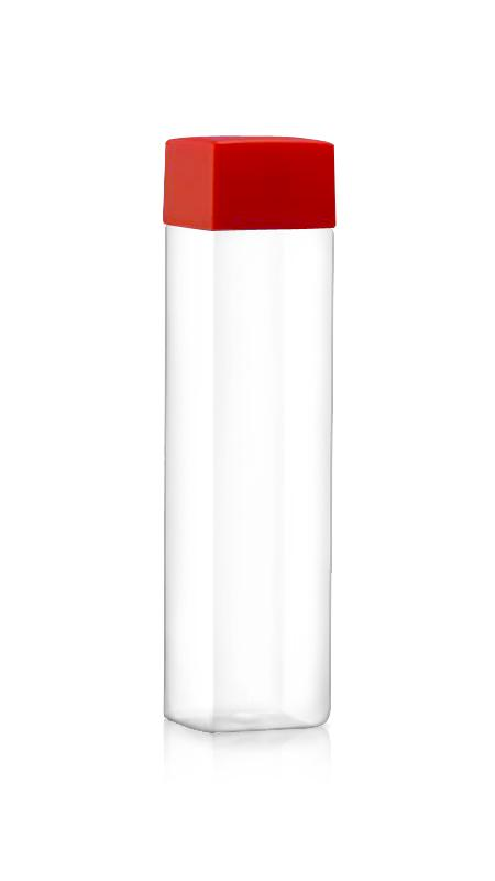 Sticle PET din seria 38mm (52-504) - (52-504) Flacon PET de 500 ml în formă pătrată pentru ambalarea băuturilor reci cu certificare FSSC, HACCP, ISO22000, IMS, BV
