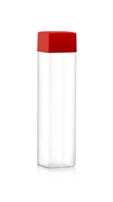 PET-Flaschen der 38-mm-Serie (52-504) - (52-504) 500 ml Quadratische PET-Flasche für kühle Getränkeverpackungen mit Zertifizierung FSSC, HACCP, ISO22000, IMS, BV
