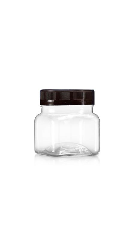PET 63mm Series Wide Mouth Jar (A204) - 200 ml PET Square Jar with Certification FSSC, HACCP, ISO22000, IMS, BV