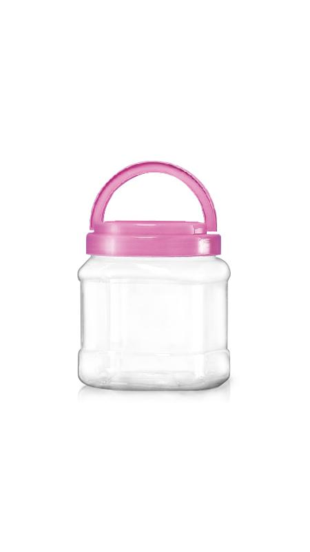 PET 120mm Series Wide Mouth Jar (J1504) - 1550 ml PET Square Jar with Certification FSSC, HACCP, ISO22000, IMS, BV