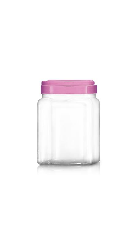 PET 120mm Series Wide Mouth Jar (J2004) - 2200 ml PET Square Jar with Certification FSSC, HACCP, ISO22000, IMS, BV