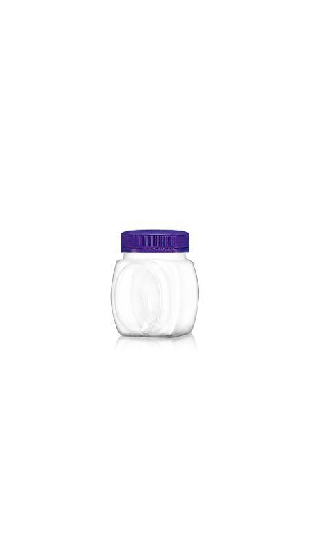 PET 53 mm Weithalsdose (F179) - 180 ml PET Quadratische und ovale Dose mit Zertifizierung FSSC, HACCP, ISO22000, IMS, BV