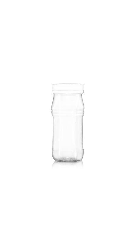 PET 53mm Series Wide Mouth Jar (F234) - 240 ml PET Triangle Square Jar με πιστοποίηση FSSC, HACCP, ISO22000, IMS, BV