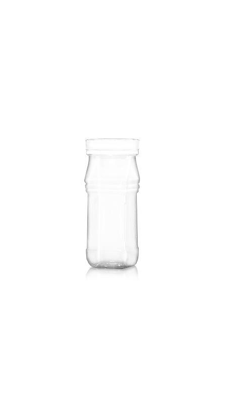 PET 53 mm Weithalsdose (F234) - 240 ml PET Triangle Square Jar mit Zertifizierung FSSC, HACCP, ISO22000, IMS, BV